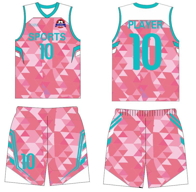 pink basketball jersey
